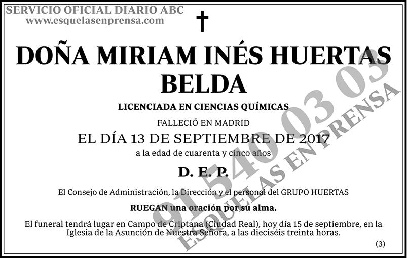 Miriam Inés Huertas Belda